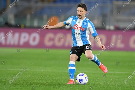 Mario Rui of SSC Napoli in action during Italian Serie A soccer match between AS Roma and SSC Napoli at Stadio Olimpico on March 21, 2021, in Rome, Italy. (Photo by Roberto Ramaccia / INA Photo Agency)