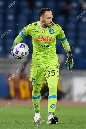Stock Photo of David Ospina of SSC Napoli in action during Italian Serie A soccer match between AS Roma and SSC Napoli at Stadio Olimpico on March 21, 2021, in Rome, Italy. (Photo by Roberto Ramaccia / INA Photo Agency)
