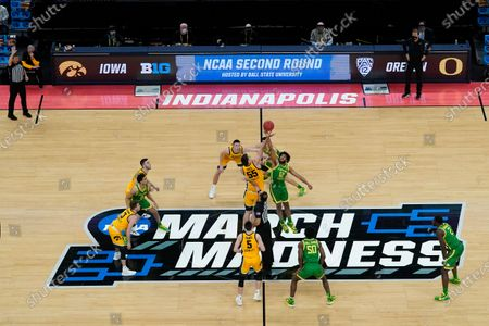 Editorial image of NCAA Oregon Iowa Basketball, Indianapolis, United States - 22 Mar 2021