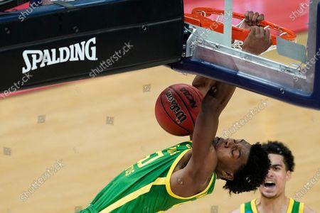 Editorial photo of NCAA Oregon Iowa Basketball, Indianapolis, United States - 22 Mar 2021