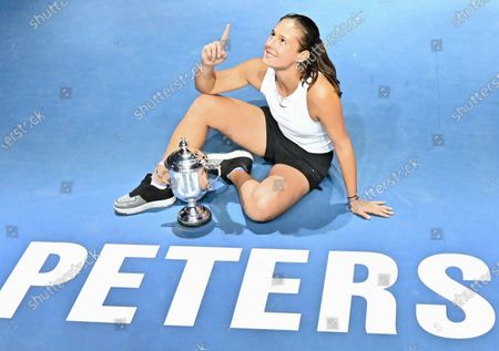 Russian tennis player Daria Kasatkina during the awards ceremony for the tournament winners