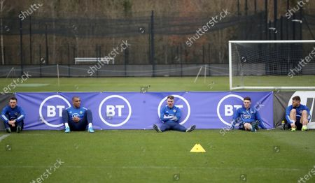 Stock Picture of Corry Evans, Josh Magennis, Micheal Smith, Jordan Thompson and Dion Charles