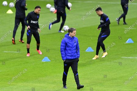 Coach Frank de Boer of the Dutch national team during a training in Zeist, The Netherlands, 22 March 2021, in preparation for the World Cup 2022 qualifying match against Turkey on 24 March.
