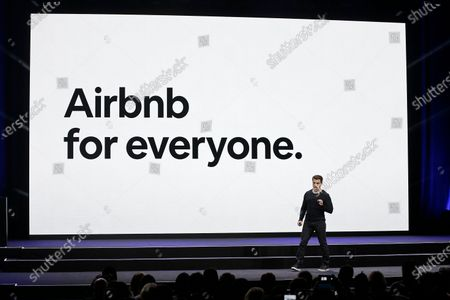 Airbnb CEO Brian Chesky speaks during an event in San Francisco. Airbnb Inc. is being asked to drop its sponsorship connections to 2022 Beijing Winter Olympics by a coalition of 150 human-rights campaigners. The coalition is headed by groups that oppose rights violations in China including widely reported genocide against Muslim Uyghurs in the Xinjiang region. An open letter sent on to Chesky argues that Airbnb is trying to drive tourism in China at the expense of Uyghurs and Tibetans who cannot travel freely in the country