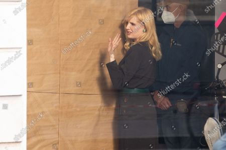 "British actress Kelly Reilly on the set of film ""Promises"" directed by the French director and writer Amanda Sthers"