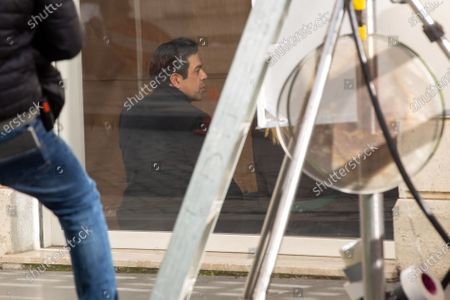 "Italian actor Pierfrancesco Favino on the set of the film ""Promises"" directed by Amanda Sthers"