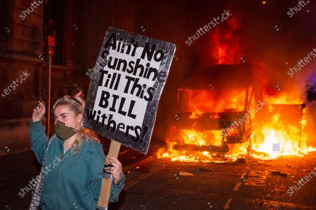 Editorial photo of Protest against Police, Crime, Sentencing and Courts Bill, Bristol, UK - 21 Mar 2021