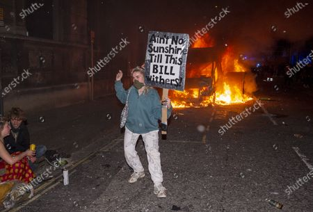 Editorial picture of Protest against Police, Crime, Sentencing and Courts Bill, Bristol, UK - 21 Mar 2021