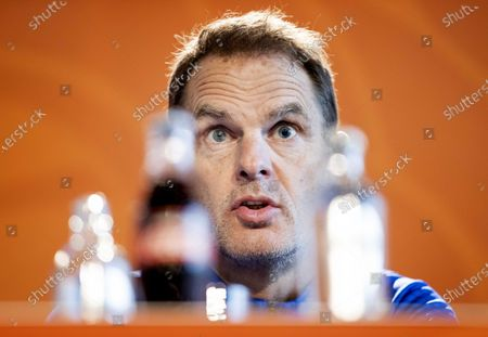 Dutch national soccer team head coach Frank de Boer speaks during a press conference in Zeist, Netherlands, 23 March 2021. The Dutch team will face Turkey in their FIFA World Cup 2022 qualifying soccer match on 24 March 2021.