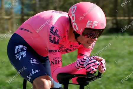 US rider Tejay Van Garderen of EF Education-NIPPO team in action during the second stage of La Volta a Cataluna cycling race, a 18,5 km individual time trial in Banyoles, Girona, Catalonia, Spain, 23 March 2021.