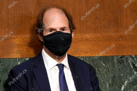 Cass Sunstein, husband of Samantha Power, nominee to be Administrator of the United States Agency for International Development, is seen during her confirmation hearing before the Senate Foreign Relations Committee in Washington, DC, USA, 23 March 2021.