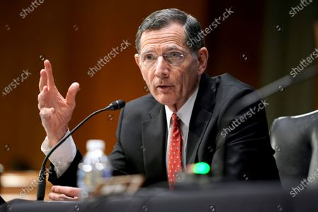 Sen. John Barrasso, R-Wyo., speaks during a Senate Foreign Relations Committee hearing on the nomination of Samantha Power to be the next Administrator of the United States Agency for International Development (USAID), on Capitol Hill in Washington