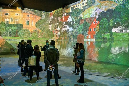 """The Immersive Experience is a one-of-a-kind digital art exhibition. The main masterpieces of Gustav Klimt as well as the key stages of his career literally come alive to give you a 360° immersive experienceThe exhibition is visible by group and with a guide from Sophie Legrand's """"Itineraries"""" company"""