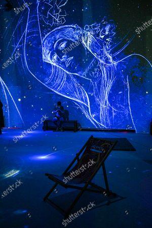 Editorial picture of Gustave Klimt digital art exhibition, Brussels Horta Gallery, Belgium - 23 Mar 2021
