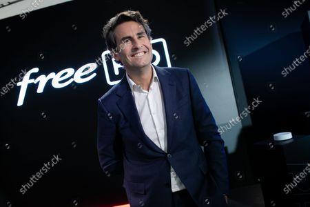 Thomas Reynaud CEO of Iliad. Xavier Niel, Founder of Free, Thomas Reynaud CEO of Iliad and Kevin Polizzi Director of Free Pro.