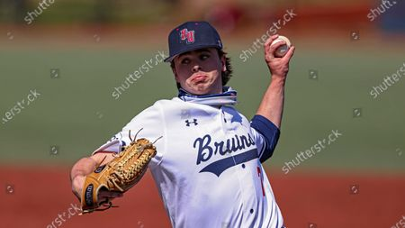 Stock Picture of Belmont's Andy Bean throws to a batter during an NCAA baseball game against SIU Edwardsville, in Nashville, Tenn