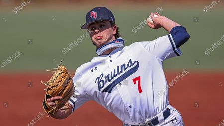 Belmont's Andy Bean throws to a batter during an NCAA baseball game against SIU Edwardsville, in Nashville, Tenn