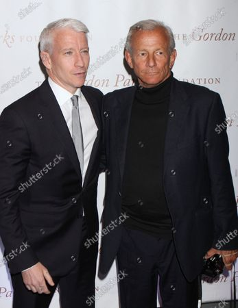 Anderson Cooper and Peter Beard attend The Gordon Parks Centennial Gala at the Museum of Modern Art in New York City on June 5, 2012.  Photo Credit: Henry McGee/MediaPunch