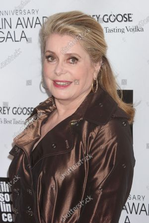 Catherine Deneuve attends the Film Society of Lincoln Center's 40th Anniversary Chaplin Award Gala honoring Barbra Streisand at Avery Fisher Hall in New York City on April 22, 2013.  Photo Credit: Henry McGee/MediaPunch