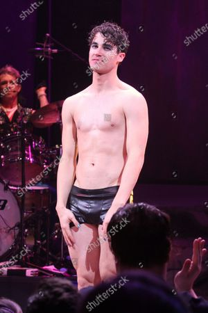 """Editorial picture of Curtain Call for Darren Criss in """"Hedwig and the Angry Inch"""" on Broadway,New York, USA - 29 Apr 2015"""