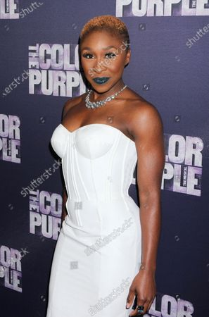 """Stock Image of Cynthia Erivo attends the opening night party for """"The Color Purple"""" at Copacabana  in New York City on December 10, 2015.  Photo Credit: Henry McGee/MediaPunch"""
