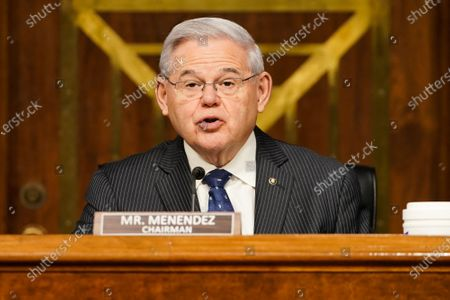 Senate Foreign Relations Committee Robert Menendez (D-N.J.) gives an opening statement during confirmation hearing for nominee for Administrator of the United States Agency for International Development Samantha Power.