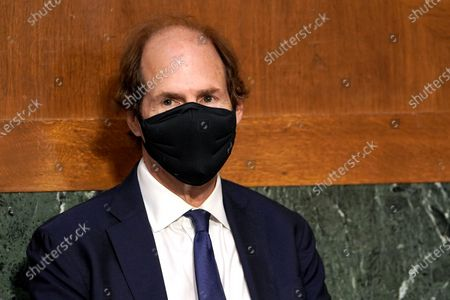Cass Sunstein, husband of Samantha Power, nominee to be Administrator of the United States Agency for International Development, is seen during her confirmation hearing before the Senate Foreign Relations Committee.