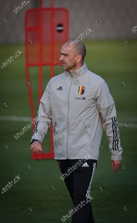 Belgium's head coach Roberto Martinez pictured during a training session of the Belgian national team Red Devils, Tuesday 23 March 2021 in Tubize, ahead of the World Cup 2022 qualification match against Wales.