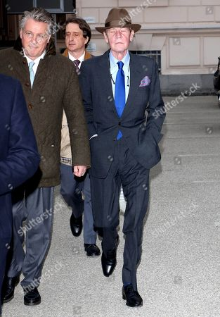 Ernst August von Hanover leaves the courthouse after the verdict has been pronounced