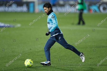 "Gaku Shibasaki (Leganes), MARCH20, 2021 - Football / Soccer : Spanish ""La Liga Smartbank"" match between CD Leganes 0-2 CF Fuenlabrada at the Estadio Municipal de Butarque in Leganes, Spain."