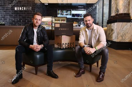 """MunchFit, healthy food provider to luxury gym Equinox and elite studio Barry's Bootcamp hopes to raise £1m through a crowdfunding round which launches today, in a bid to satiate the growing appetite for meal plans tailored to fitness goals. Founded by Angus Fay (left) in 2013, the upmarket goal-based meals brand is looking for """"Fitvestors"""" to take the business to the next level. One of the """"Fitvestors"""" is entrepreneur and angel investor Spencer Matthews (right), who used the Fuel Lean Meal Plan to help him achieve his impressive Weight Loss Transformation for Men's Health."""