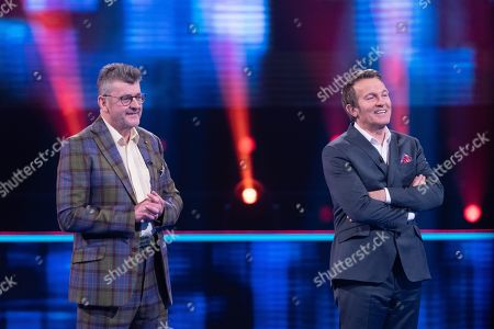Stock Picture of Joe Pasquale and Bradley Walsh.