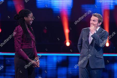 Stock Image of Christine Ohuruogu and Bradley Walsh.