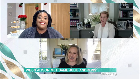 Stock Photo of Alison Hammond, Julie Andrews and Emma Walton Hamilton