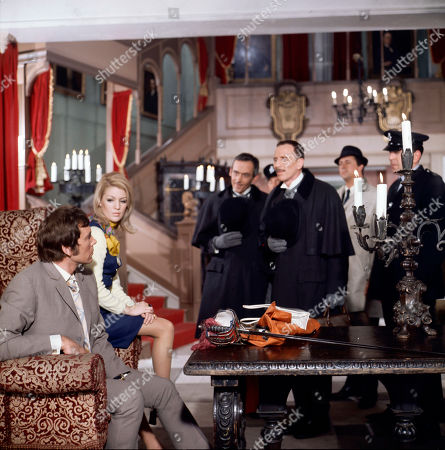 Jeff Randall, as played by Mike Pratt, and Jeannie Hopkirk, as played by Annette Andre, George Foster, as played by Dudley Foster, and Henry Foster, as played by Alfred Burke