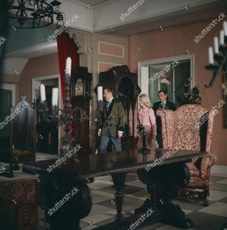 Henry Foster, as played by Alfred Burke, Jeannie Hopkirk, as played by Annette Andre, and George Foster, as played by Dudley Foster
