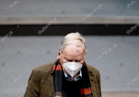 Alternative for Germany (AfD) faction co-leader Alexander Gauland during a session of the German Bundestag in Berlin, Germany, 24 March 2021. The German government takes questions from deputies in a one-hour government questioning.