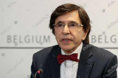Minister-President of Wallonia Elio Di Rupo during a media conference after a meeting of the consultative committee of government ministers in Brussels, Belgium, 24 March 2021. Ministers met on 24 March to discuss a possible tightening of COVID-19 measures as infections are once again on the rise.