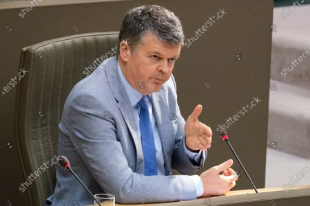 Flemish Minister of Domestic Policy and Living Together Bart Somers pictured during a plenary session of the Flemish Parliament in Brussels, Wednesday 24 March 2021.