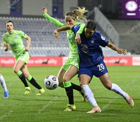 Editorial picture of Chelsea FC vs VfL Wolfsburg, Budapest, Hungary - 24 Mar 2021