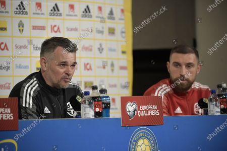 Editorial image of Georgia's national soccer press conference, Stockholm, Sweden - 24 Mar 2021