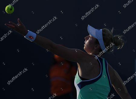 Nina Stojanovic Vs Heather Watson at the 2021Miami Open at Hard Rock Stadium, Miami Gardens, Florida, USA - 24 Mar 2021