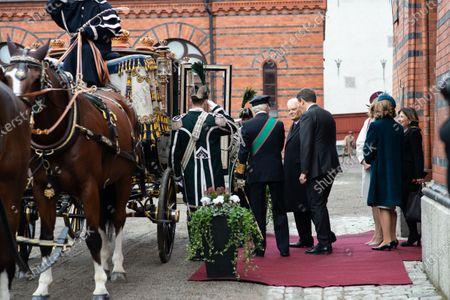 The President of the Republic of Italy Sergio Mattarella, Ms Laura Mattarella, King Carl Gustaf XVI and Queen Silvia