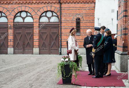 Stock Image of The President of the Republic of Italy Sergio Mattarella, Ms Laura Mattarella, King Carl Gustaf XVI and Queen Silvia
