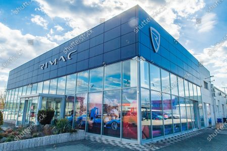 Stock Picture of The British Minister of State in the Ministry of International Trade, Greg Hands,visited Rimac Automobili company and met with Mate Rimac.