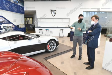 Editorial image of British Minister of State Greg Hands visited Rimac Automobili company, Zagreb, Croatia - 23 Mar 2021
