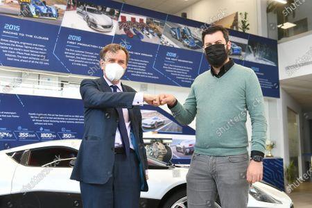 Editorial photo of British Minister of State Greg Hands visited Rimac Automobili company, Zagreb, Croatia - 23 Mar 2021
