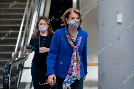 United States Senator Shelley Moore Capito (Republican of West Virginia) walks through the Senate Subway at the U.S. Capitol in Washington D.C., U.S..