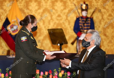 Editorial picture of The first female Police Commander in Ecuador and South America swears in, Quito - 24 Mar 2021