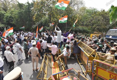 Editorial picture of Delhi Pradesh Congress Committee Protest Against New Excise Policy Of Delhi Government, New Delhi, DLI, India - 24 Mar 2021